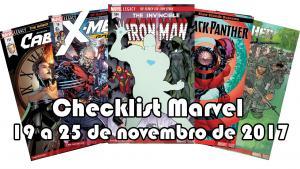 Lançamentos da Marvel: 19 a 25 de novembro de 2017