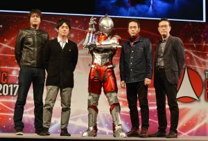 Eiichi Shimizu,Tomohiro Shimoguchi, Kenji Kamiyama e Shinji Aramaki (da esquerda para a direita)