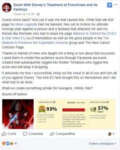 possível ataque ao Rotten Tomatoes