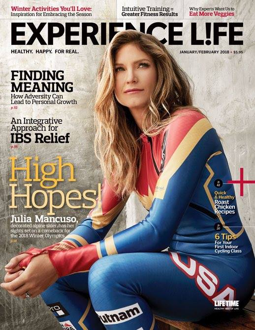 Julia Mancuso foi capa da edição de janeiro/fevereiro de 2018, da revista Experience L!fe