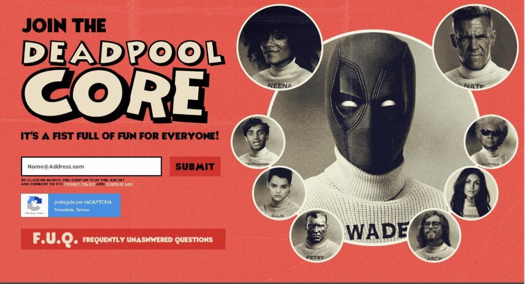 Deadpool 2 ganha um site viral, exclusivo