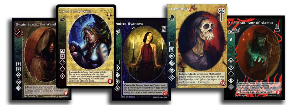 O card game Vampire: The Eternal Struggle volta a ser produzido