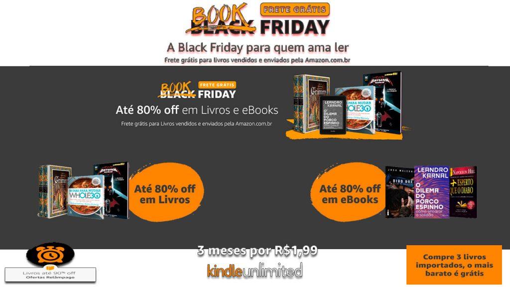 BookFriday na Amazon, com frete grátis e descontos de até 80%