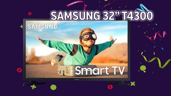 """T4300 - Smart TV Samsung de 32"""" perfeita para você"""
