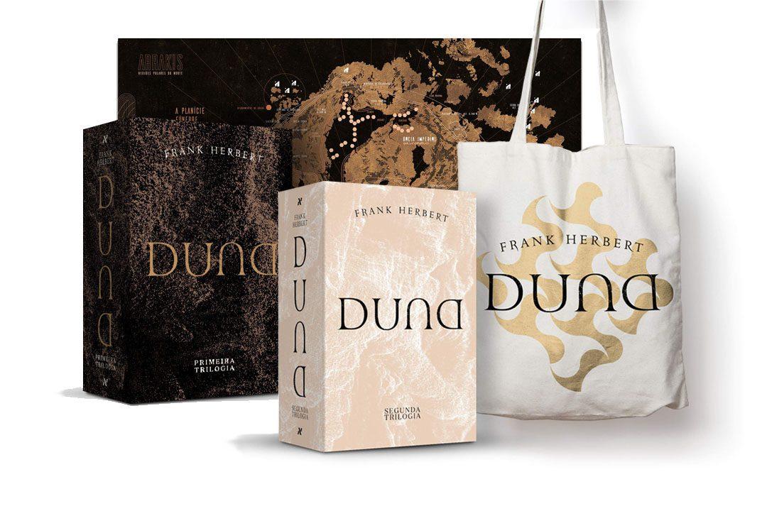 Editora Aleph finalmente completando a Héxalogia Duna + BOXES da coleção
